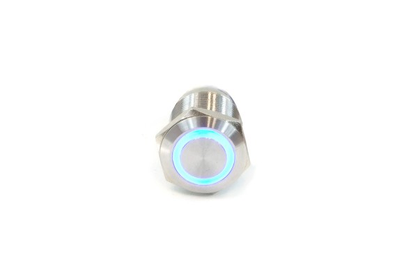 Phobya push-button vandalism-proof / bell push 19mm stainless steel, RGB ring lighting 7pin (second choice)