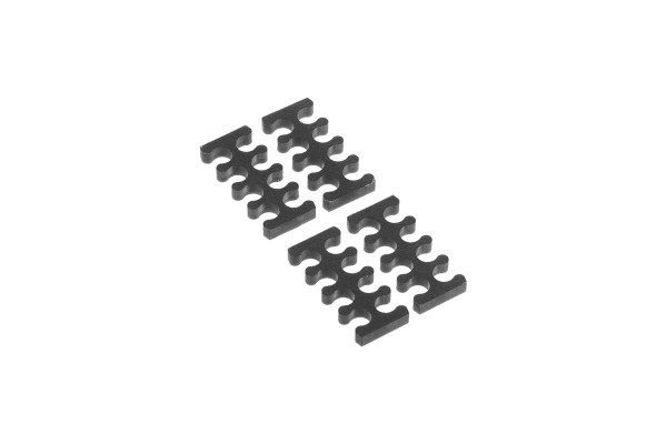 Alphacool Eiskamm X8 - 3mm black - 4 pcs