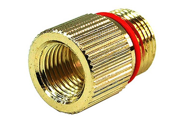 """Phobya Eheim 1046/48 In- and 1250 outlet adaptor to G1/4"""" – knurled – gold plated"""