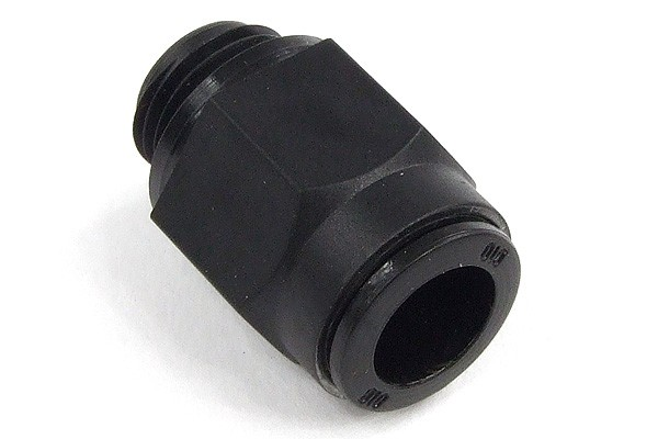 10mm G1/4 plug fitting black plastics