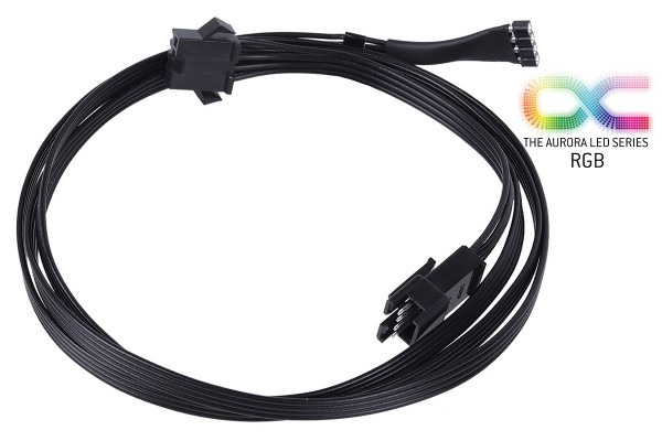 Alphacool RGB 4pol LED adapter cable for Mainboards 100cm - black