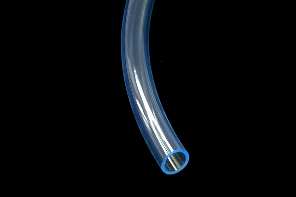 "tubing PVC 13/10mm (3/8""ID) UV-active blue/clear"