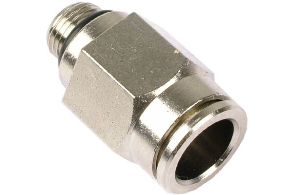 10mm G1/8 plug fitting - nickel plated