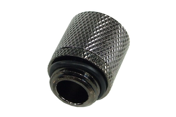 11/8mm (8x1,5mm) compression fitting G1/4 - knurled - black nickel