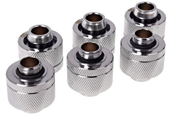 Alphacool HF 19/13 compression fitting G1/4 - chrome sixpack