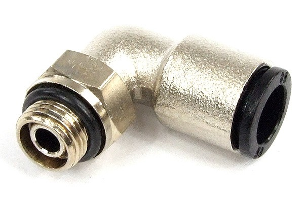 8mm G1/8 plug fitting 90° revolvable nickel coated