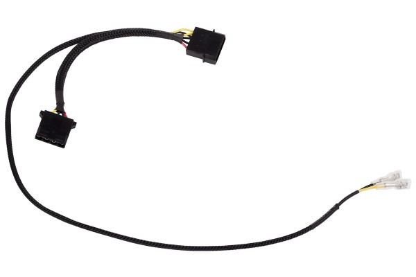 Alphacool 4Pin Molex single adapter for Alphacool magnetic valve 50cm - black