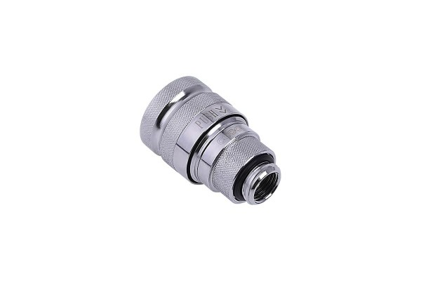 Alphacool Eiszapfen quick release connector female G1/4 outer thread - Chrome